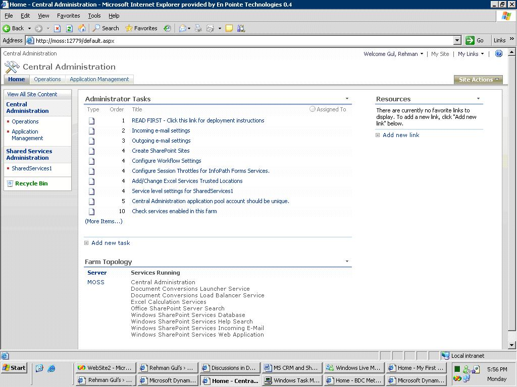 MS CRM and SharePoint 2007 Integration | Ayaz Ahmad [MVP Microsoft ...